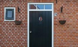 Puerta principal de una casa agrícola Foto de archivo libre de regalías