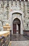Puerta principal del castillo Foto de archivo