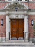 Puerta principal doble Foto de archivo