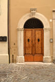 Puerta principal italiana Fotos de archivo libres de regalías