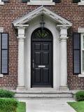 Puerta principal negra Imágenes de archivo libres de regalías