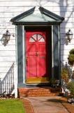 Puerta principal roja Fotografía de archivo libre de regalías