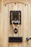 Puerta principal tradicional Fotografía de archivo