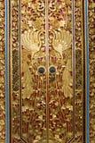 Puerta que talla en Pura Masceti, Bali, Indonesia Fotografía de archivo libre de regalías