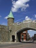 Puerta Quebec City de St-Jean Foto de archivo