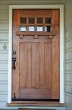 Puerta resistida de madera de Misson Imagenes de archivo
