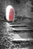 Puerta roja Imagenes de archivo