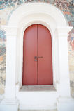 Puerta roja antigua Foto de archivo libre de regalías