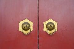 Puerta roja china foto de archivo
