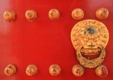 Puerta roja china Fotografía de archivo libre de regalías
