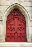 Puerta roja de la iglesia Imagen de archivo libre de regalías