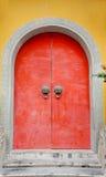 Puerta roja en China Fotos de archivo