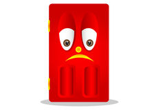 Puerta roja triste foto de archivo