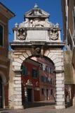 Puerta romana de Rovinj Fotografía de archivo