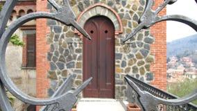 Puerta romana del castillo Fotos de archivo