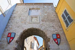 Puerta romana. San Gemini. Umbría. Italia. Foto de archivo libre de regalías