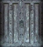 Puerta sólida grande del hierro Fotografía de archivo libre de regalías