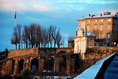 Puerta S. Giacomo de Bérgamo Fotografía de archivo libre de regalías