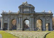 puerta spain för alcalade madrid Royaltyfri Bild