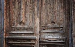 Puerta sucia vieja Foto de archivo