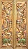 Puerta tailandesa del templo Fotografía de archivo libre de regalías