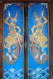 Puerta tailandesa del templo Imagenes de archivo