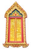 Puerta tailandesa del templo en el fondo blanco Fotos de archivo