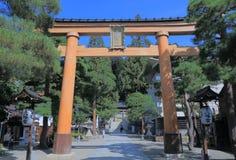 Puerta Takayama Japón de la capilla Imagenes de archivo