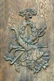 Puerta tallada Imagenes de archivo