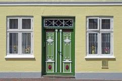 Puerta tradicional en Schleswig Fotos de archivo