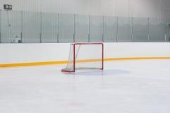 Puerta vacía del hockey Fotos de archivo libres de regalías