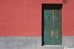 Puerta verde Imagenes de archivo