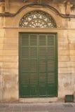 Puerta verde Imagen de archivo libre de regalías