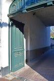Puerta verde Fotos de archivo