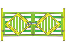 Puerta verde libre illustration