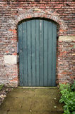 Puerta verde del jardín Foto de archivo