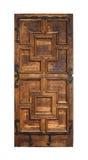Puerta vieja aislada en el fondo blanco Imagen de archivo libre de regalías