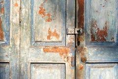 Puerta vieja de la casa Foto de archivo