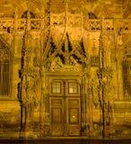Puerta vieja de la catedral Fotografía de archivo