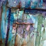 Puerta vieja de la granja Fotos de archivo