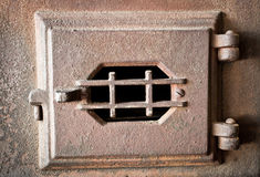Puerta vieja del horno Fotografía de archivo libre de regalías