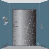 Puerta vieja del metal Foto de archivo