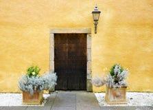 Puerta vieja del roble Foto de archivo libre de regalías