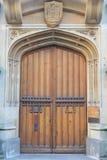 Puerta vieja del roble Imagen de archivo