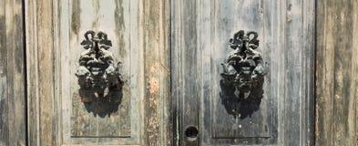 Puerta vieja del vintage que adorna Fotografía de archivo