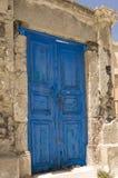 Puerta vieja en Grecia Imagen de archivo libre de regalías