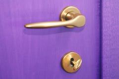 Puerta violeta Foto de archivo libre de regalías