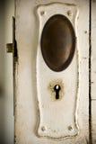 Puerta y bloqueo viejos Fotografía de archivo