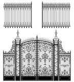 Puerta y cerca ilustración del vector