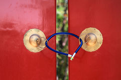 Puerta y cerradura Foto de archivo libre de regalías